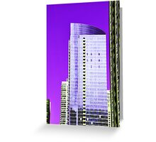 Skyscraper Purple Greeting Card