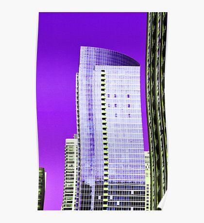 Skyscraper Purple Poster