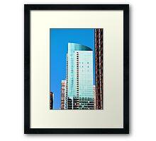 Skyscraper Blue Framed Print