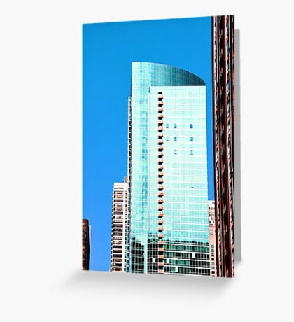 Skyscraper Blue Greeting Card