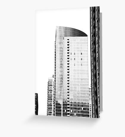 Skyscraper Black & White Greeting Card