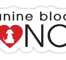 Canine Blood Donor Sticker