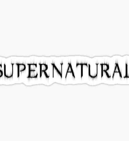 Supernatural Title Sticker