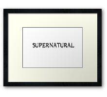 Supernatural Title Framed Print