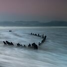Sunbeam Wreck on a Dewy Morning by DesDaly