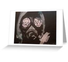 gasmask Greeting Card
