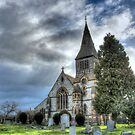 """Temple Grafton Parish Church, Warwickshire"" by Bradley Shawn  Rabon"