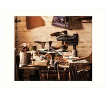 The Shoe Makers Shop Art Print