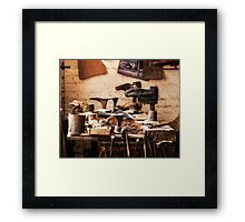 The Shoe Makers Shop Framed Print