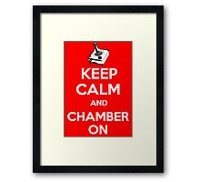 Keep Calm Poster Framed Print