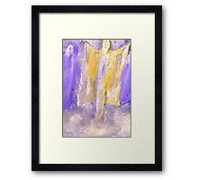 Angelic Greeting Framed Print