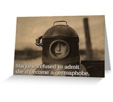 Novelty Greeting Card - Retro Woman in Diving Mask - Germaphobe Greeting Card