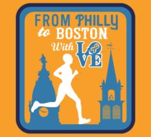 Broad Street Run Tee (Honors Boston) by DCVisualArts