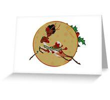 Santa's Reindeer- Prancer Greeting Card