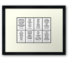 TONY ROBBINS QUOTES Framed Print