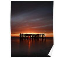 Pilot Pier (sunset) Poster
