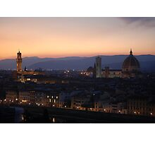 Looking over Florence Photographic Print