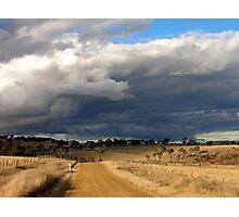 Storm clouds at Gara Photographic Print