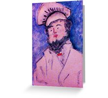 The Chef, watercolor Greeting Card