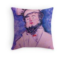The Chef, watercolor Throw Pillow