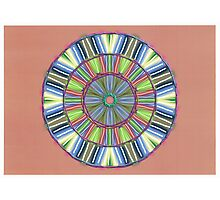 Random Psychedelic Kaleidoscope 2 Photographic Print