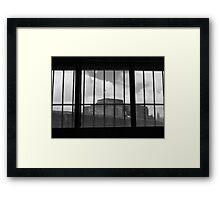 Breendonk Belgium, cannon Framed Print