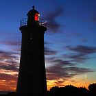 Mercy Bluff Lighthouse Sunset by MisticEye