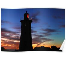 Mercy Bluff Lighthouse Sunset Poster