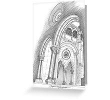 Mosteiro de Alcobaça. Greeting Card