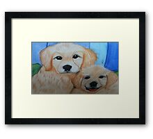 cute puppies Framed Print