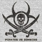 Pirates vs Zombies : Logo (dark) with text by Zero Dean