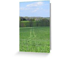 The Field on April Morning Greeting Card