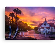 Sunset at Sandgate Canvas Print