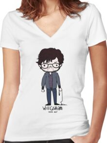 Will Graham Needs Help Women's Fitted V-Neck T-Shirt