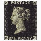 British Penny Black Postage Stamp by TravelShop