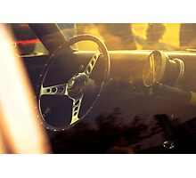 Chevy Nova coupe dashboard Photographic Print