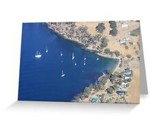 Blue water harbour Greeting Card