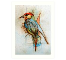 The Bluejay Chemist Self Portrait Art Print