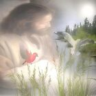Jesus in Nature by Rue McDowell
