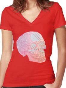 Crystal Skull Women's Fitted V-Neck T-Shirt
