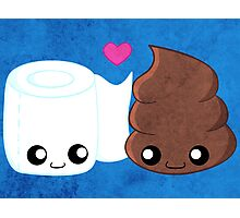 BFF's - Toilet Paper and Poop Photographic Print