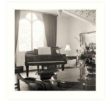 Grand Piano—Government House Tasmania Art Print