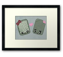 Zombie Toaster Pastry Love Framed Print