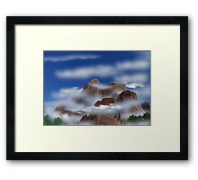 ©DigiArt Rocky Dream Mountain I Framed Print