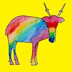 A rainbow reindeer by juliaweston