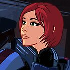 Mass Effect Cartoon - Shepard by GHaskell