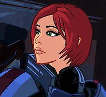 Mass Effect Cartoon - Shepard by GHaskell