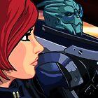 Mass Effect Cartoon - Old Friends by GHaskell