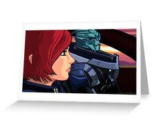 Mass Effect Cartoon - Old Friends Greeting Card