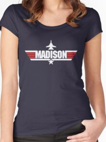 Custom Top Gun Style - Madison Women's Fitted Scoop T-Shirt